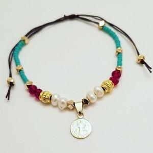 Gold Filled Saint Benedict Medal bracelet